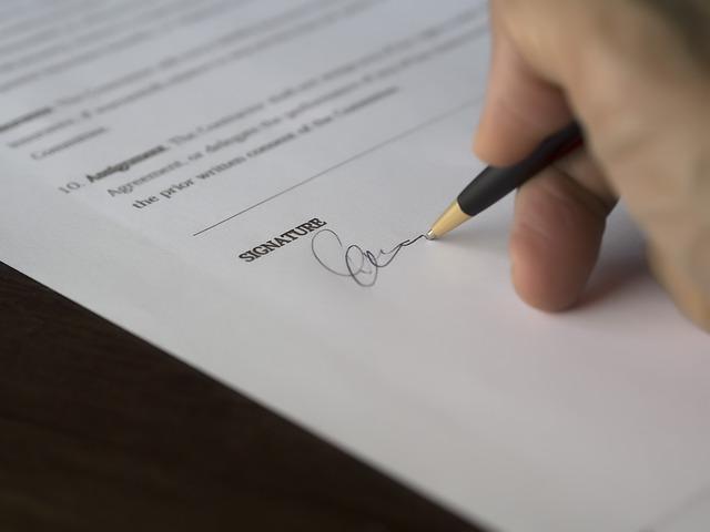 podpis úvěru