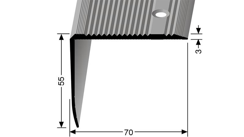 Schodový profil 70 x 55 mm Küberit 530